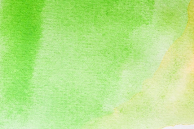 Abstract green, yellow and white watercolor background. art hand paint Premium Photo