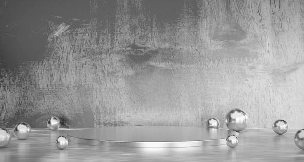 Abstract grey product stage commercial  present background 3d rendering. Premium Photo