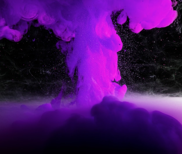 Abstract heavy purple fog in darkness Free Photo