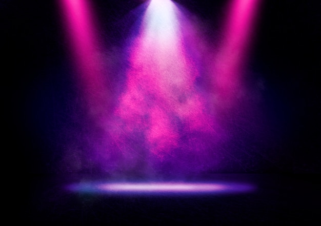 Abstract image of a disco light on a stage background Premium Photo
