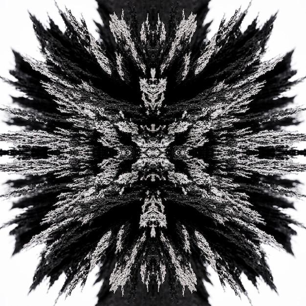 Abstract kaleidoscope magnetic metallic shaving backdrop Free Photo