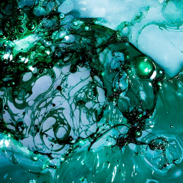 Abstract layers of green and blue slime Free Photo