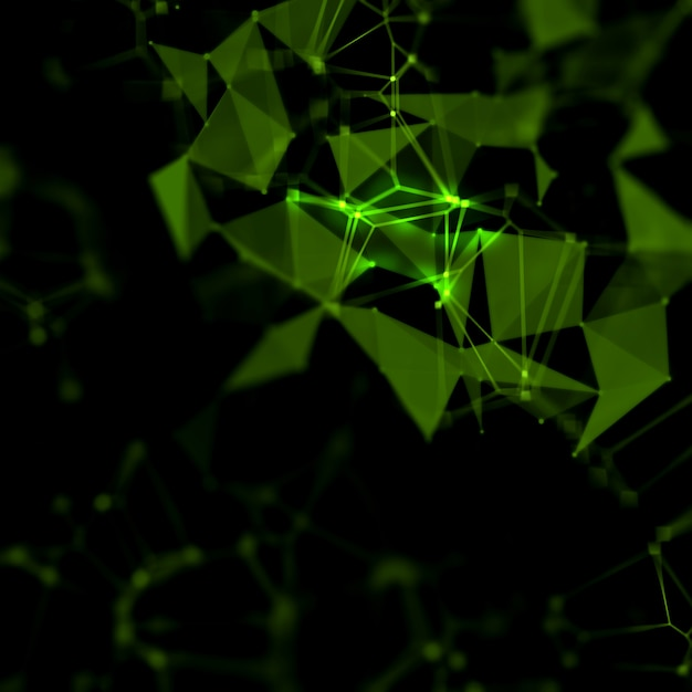 Abstract low poly futuristic background Free Photo