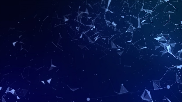 Abstract low polygon high technology background Premium Photo