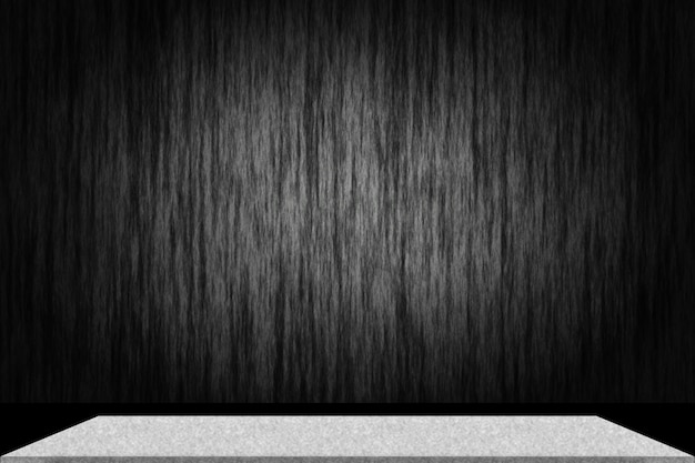 Abstract luxury black gradient with border black vignette background studio backdrop with cement shelf Free Photo