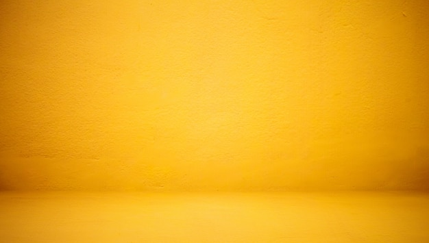 Abstract luxury clear yellow wall well use as backdrop,background and layout. Free Photo
