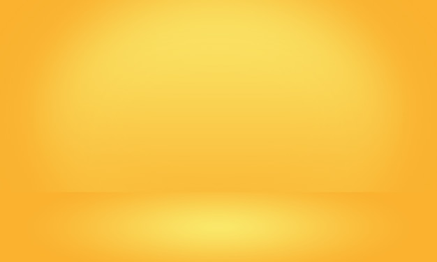 Abstract luxury gold yellow gradient studio wall, well use as background Premium Photo