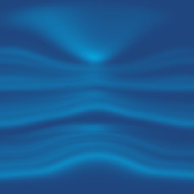 抽象的な豪華なグラデーションの青い背景。ブラックビネットスタジオバナー付きの滑らかなダークブルー。 無料写真