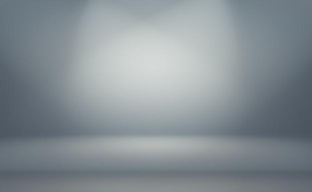 抽象的な贅沢なプレーンブラーグレーと黒のグラデーションの背景 Premium写真