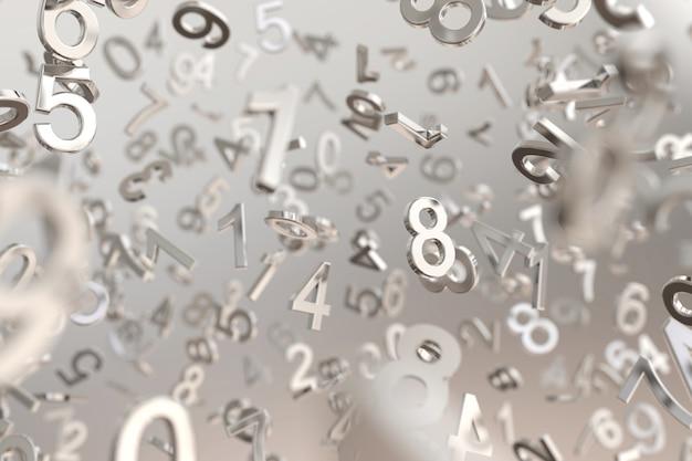 Abstract metallic number background Premium Photo