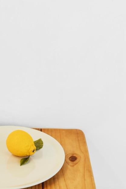 추상 최소한의 개념 레몬 복사 공간 무료 사진