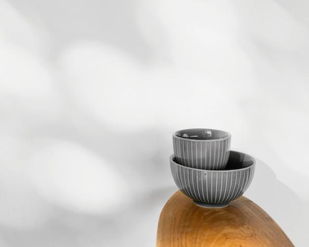 추상 최소한의 부엌 그릇 복사 공간 무료 사진