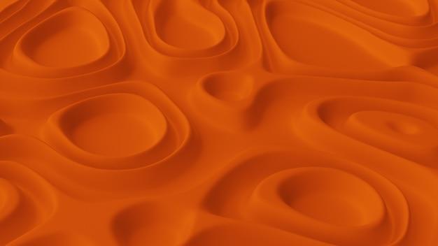 Abstract minimalistic background with orange wave field. Premium Photo