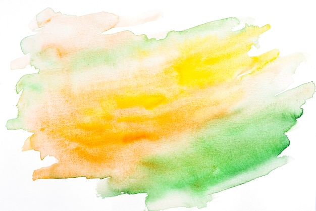 Abstract mixed orange and green watercolor texture Free Photo