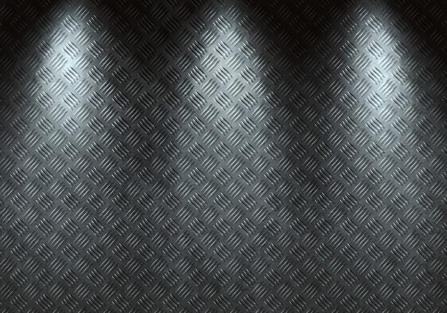 Abstract modern grey diamond metal texture, sheet with directional light. Premium Photo