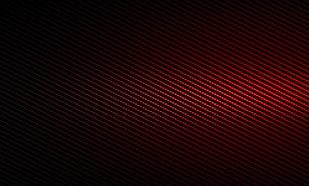 Abstract modern red carbon fiber textured material design for background, wallpaper, graphic design Premium Photo