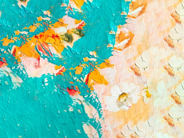 Abstract multi colored painting Free Photo