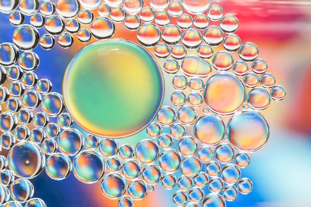 Abstract multicolored bubbles texture Free Photo