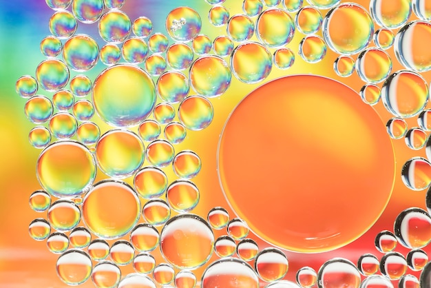 Abstract multicolored different bubbles texture Free Photo