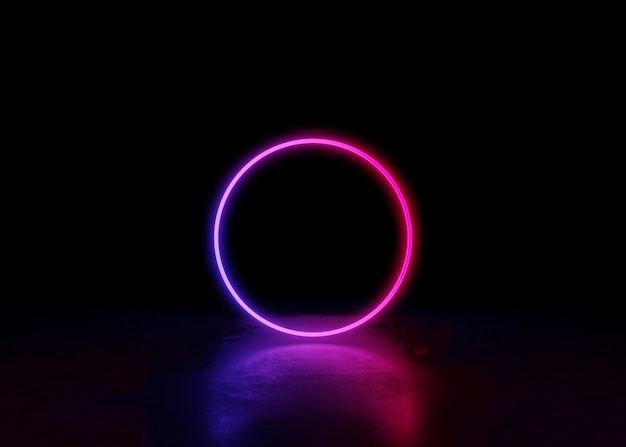 Abstract Neon Background And Luminous Swirling