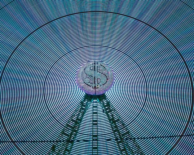 Абстрактные неоновые волны света чудо колеса Бесплатные Фотографии