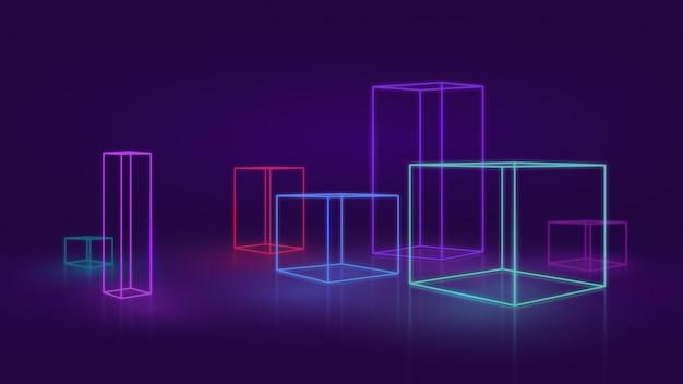 Абстрактный неоновый или светодиодный фон Premium Фотографии