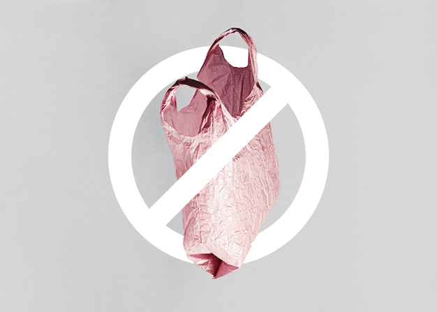 Abstract no plastic bag concept Free Photo