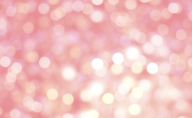 Abstract Of Bokeh Pink Pastel Background. Photo
