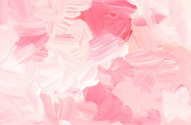Abstract pastel pink and white background painting Premium Photo