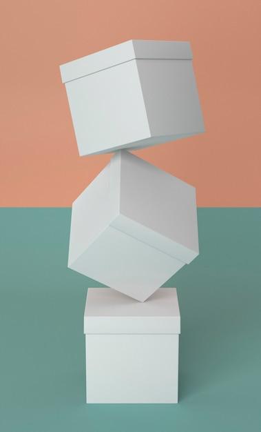 Абстрактная куча белых картонных коробок Бесплатные Фотографии