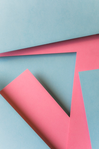 Abstract pink and gray paper geometric shape background Free Photo