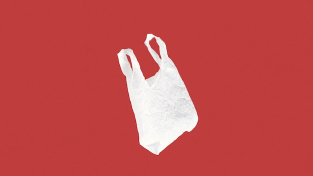 Abstract plastic bag concept with copy space Free Photo