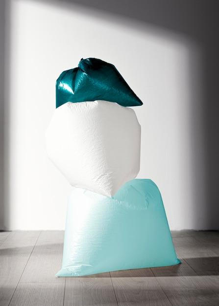 抽象的なビニール袋のコンセプト 無料写真
