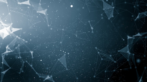 Abstract plexus technology connects and science concept background futuristic network background Premium Photo