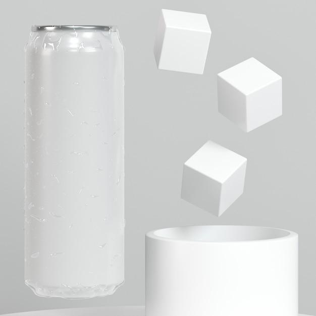 Абстрактная поп-верхняя банка с кубиками сахара Бесплатные Фотографии