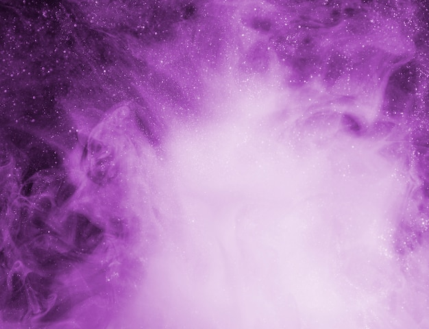 Abstract purple fog with bits Premium Photo