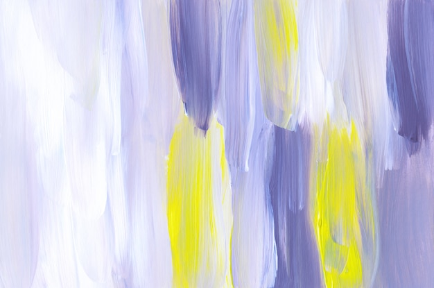 抽象的な紫、白、黄色のアート絵画の背景テクスチャ Premium写真