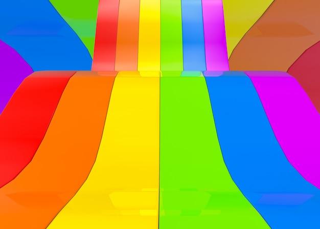 Abstract rainbow or lgbt colorful panels Premium Photo