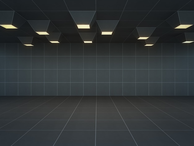 Marvelous Abstract Room With Black Wall And Floor Empty Interior Home Interior And Landscaping Staixmapetitesourisinfo