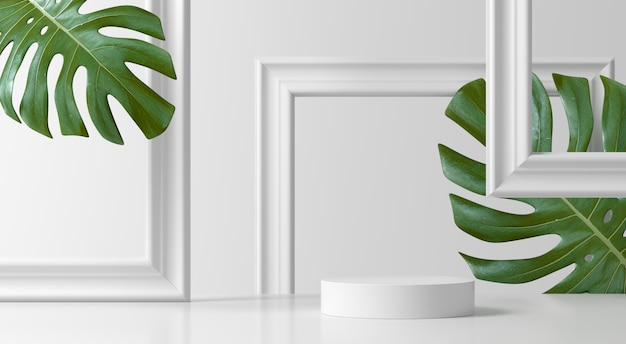 Abstract scene. geometry shape podium background for product Premium Photo