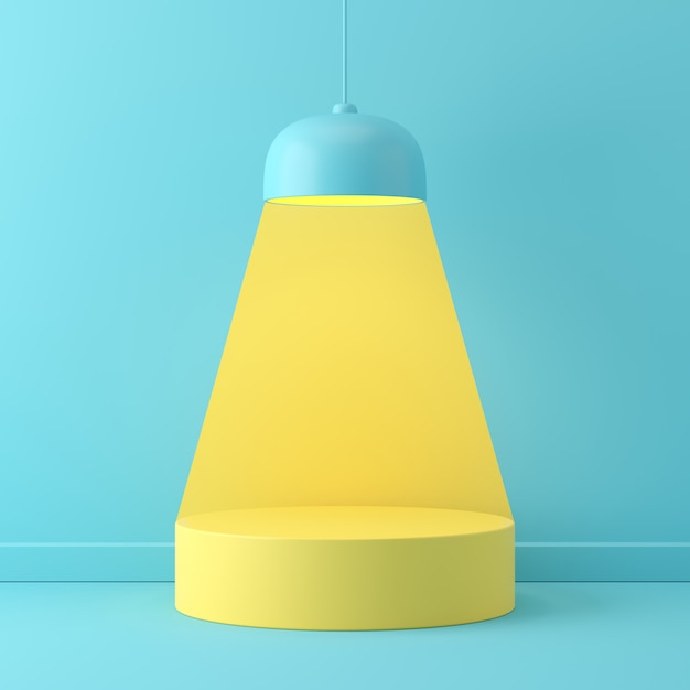Abstract scene pastel color with geometry shape podium background Premium Photo