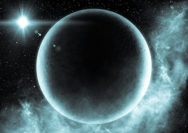 Abstract scientific background of universe scene in outer space Premium Photo