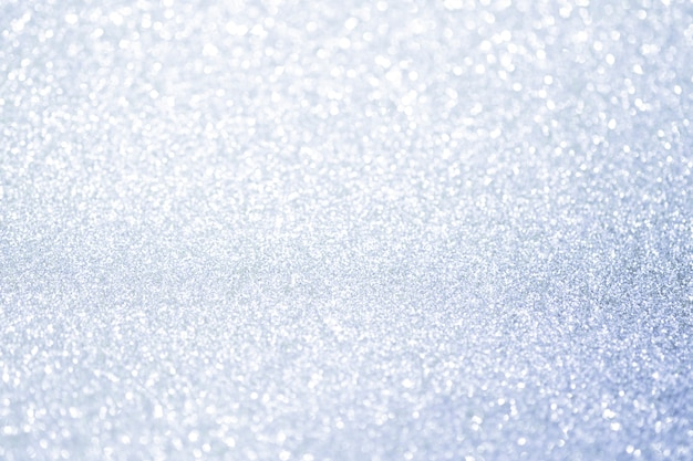 Abstract silver glitter bokeh lights with soft light background. Premium Photo