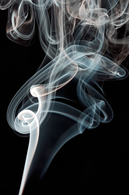 Abstract smoke background a over black background Premium Photo