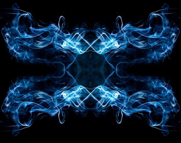 Абстрактный дым на черном Premium Фотографии