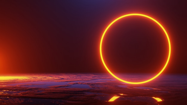 Abstract space ,, 3d render Premium Photo
