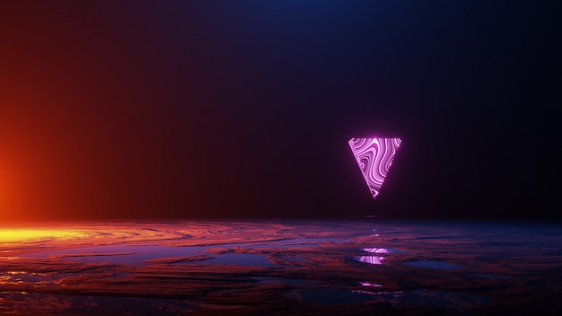 Abstract space , space travel, universe concept, 3d render Premium Photo