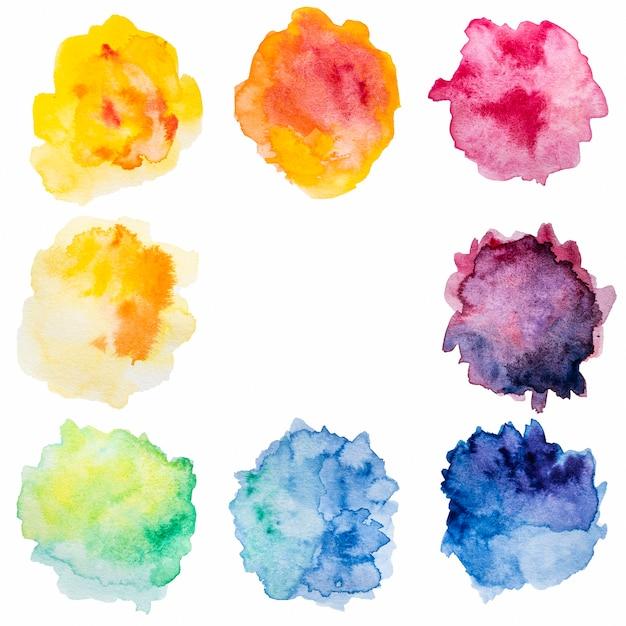 Абстрактные брызги красочной акварельной копии пространства Бесплатные Фотографии