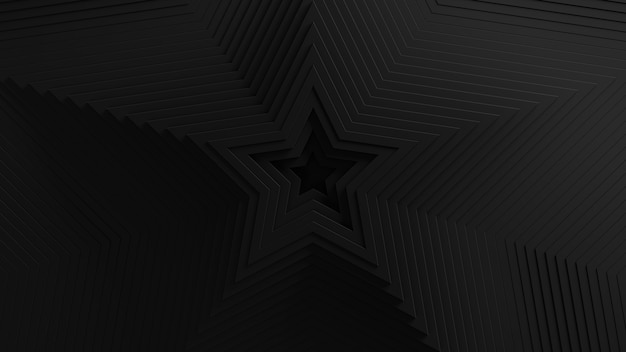 추상 별 모양의 블라인드 진동 배경. . 3d 스타 물결 모양의 표면. 기하학적 요소 변위. 무료 사진