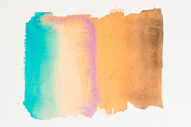 抽象的なティールオレンジ水彩壁紙 無料写真